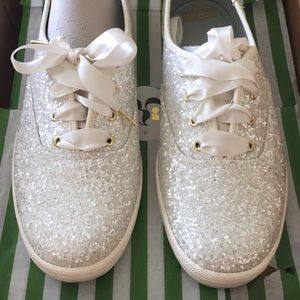 Keds x Kate Spade Champion Glitter Shoes